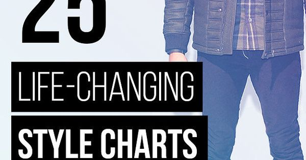 25 Life-Changing Style Charts Every Guy Needs Right Now: Excellent style tips