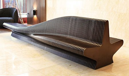 Sculpture Bench For Office Lobby Urban Adapter Lobby Bench Parametric Prototype Rocker Lange Archit Urban Furniture Design Urban Design Concept Urban Design