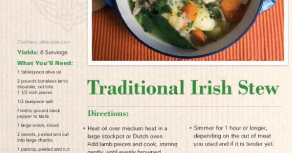 Warm up with this traditional #Irish stew! See the full ...