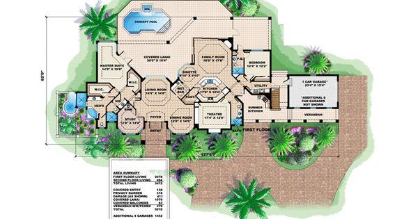 Florida Mediterranean House Plan 60424 | House plans