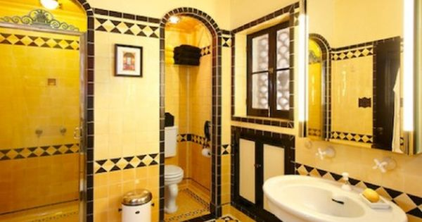 40 Wonderful Pictures And Ideas Of 1920s Bathroom Tile Designs: Never Change, Colorful Tile Bathrooms In Old LA Houses