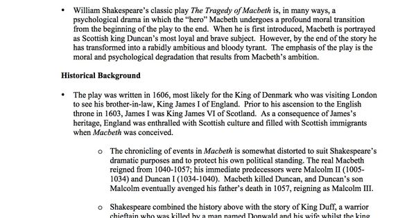 essay questions macbeth