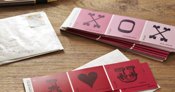 Paint Samples Valentine Day Cards