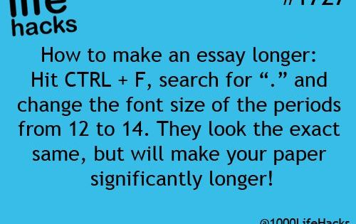 How to Make Your Term Paper Longer Without a Teacher Noticing