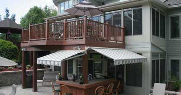 Outdoor Kitchen On Raised Deck