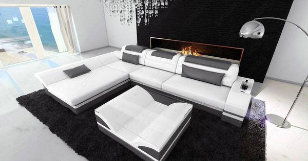 Modern Corner Sofa Atlanta Led L Shaped In 2020 Corner Sofa Leather Sectional Sofas Modern Leather Sofa