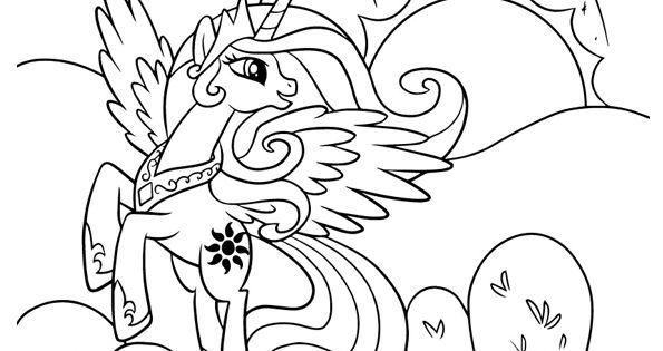 Dessin colorier de pony le poney de la princesse - Coloriage princesse celestia ...