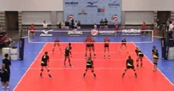 Volleyball Serve Receive Rotation 1 Formations Volleyball Serve Volleyball Drills Volleyball
