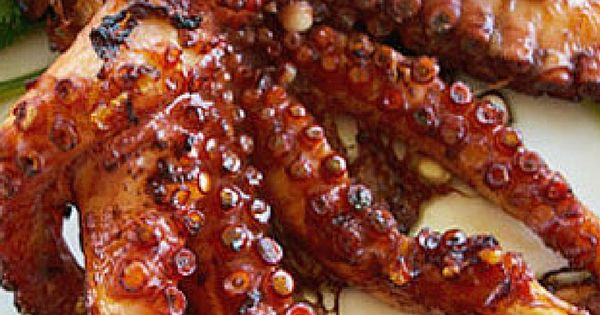 Italian Style Grilled Octopus Recipe Grilling Octopus Recipes And Italian Style
