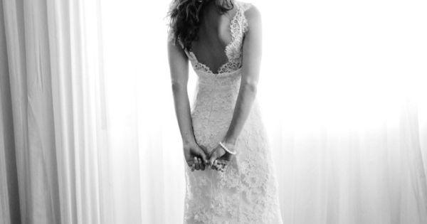 Lace wedding dress idea.