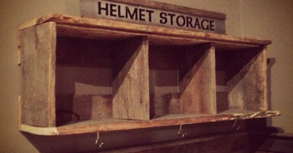 Our Barn Board Helmet Rack Made By Mono Centre Salvage