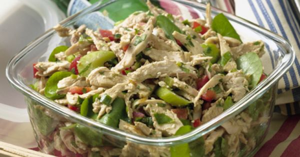 Chicken Salad W/ Mustard Vinaigrette: 1 chicken breast 1 cup arugula 1