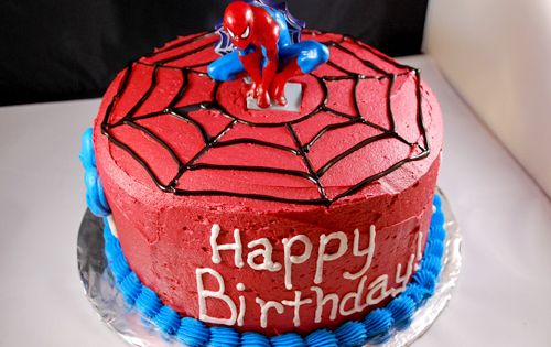 Spiderman birthday cake, or make it for opening on new spider man