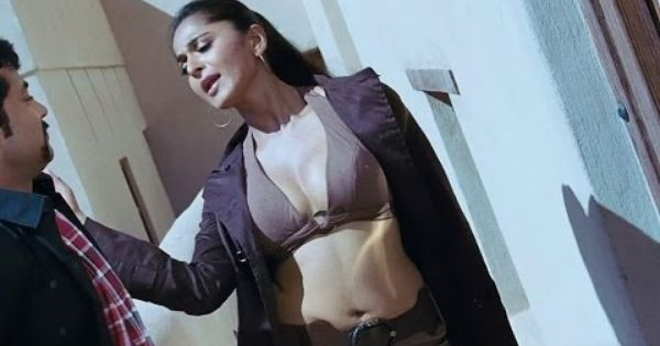 Hot Anushka Shetty Cleavage In Bra With Navel Show From