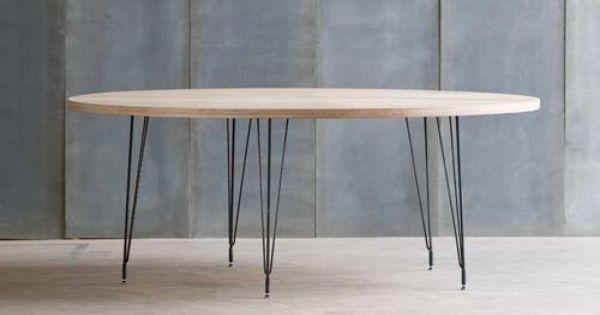 Table ronde contemporaine en bois et m tal sputnik archiexpo home pin - Table bois contemporaine ...