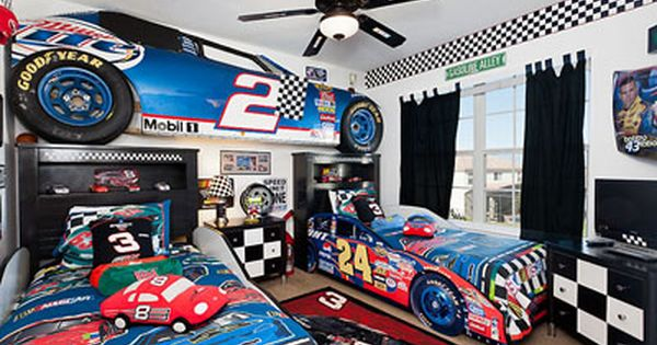 Delight your kids with a NASCAR bedroom in this vacation home in Kissimmee   FL   Room for Bryce   Pinterest   You think  Kid and Home. Delight your kids with a NASCAR bedroom in this vacation home in