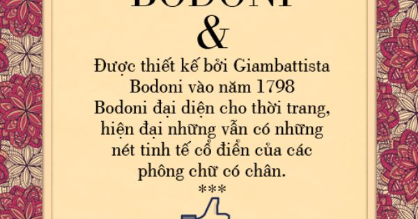 Bodoni Unicode Font Phong Chữ Thiết Kế