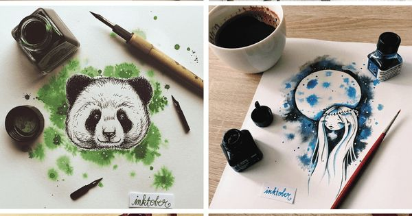 encantadoras ilustraciones hechas con tinta y acuarela 11