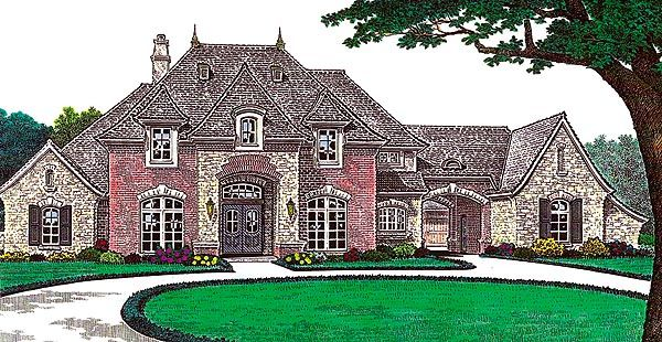 French Country Tudor House Plan 66213 3 Car Garage