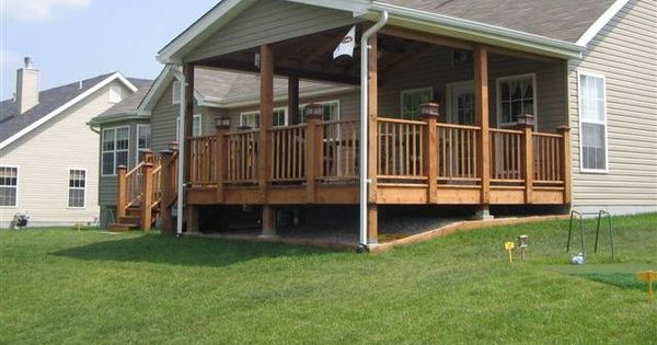 Decks With Roofs Covered Deck Free Standing Deck Designs Plans