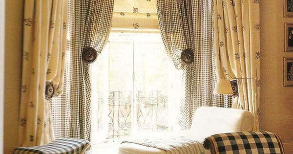 Pretty Layered Drapery Solution For A Bay Window