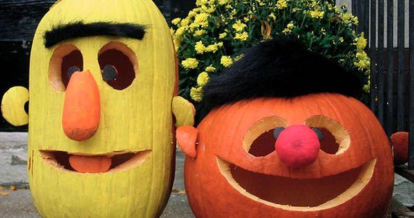 Bert and Ernie Pumpkins | Top 10 Pumpkin Carving Ideas for Halloween