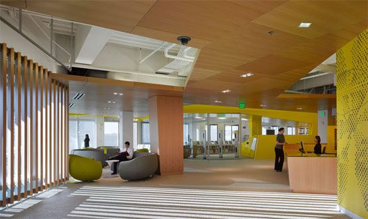 Modern College Interior Design By Clive Wilkinson Architects