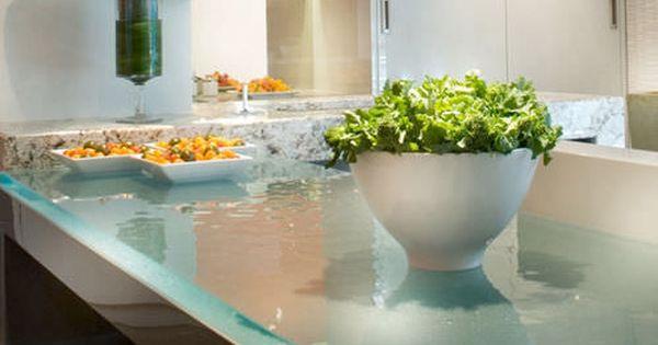 Glas-Arbeitsplatte / für Küchen SLEEK GLASS ThinkGlass | Future ... | {Glas arbeitsplatte 13}