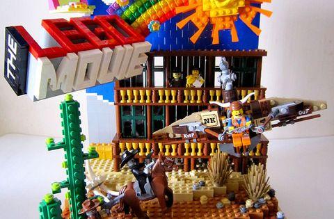 Lego movie playset