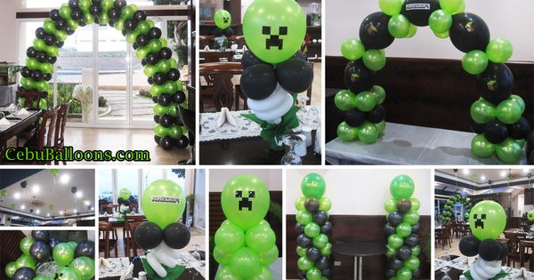 Minecraft balloon decoration package at nordtropic resort for Balloon decoration packages manila