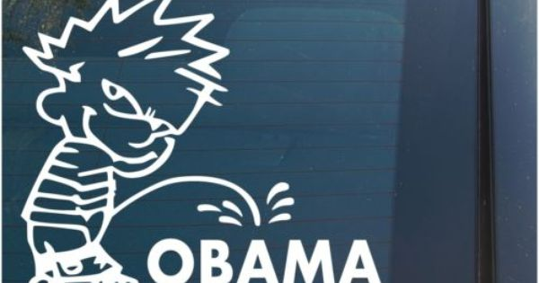 Fucking piss on obama stickers trio Damn
