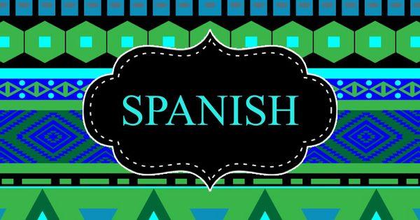 spanish binder cover