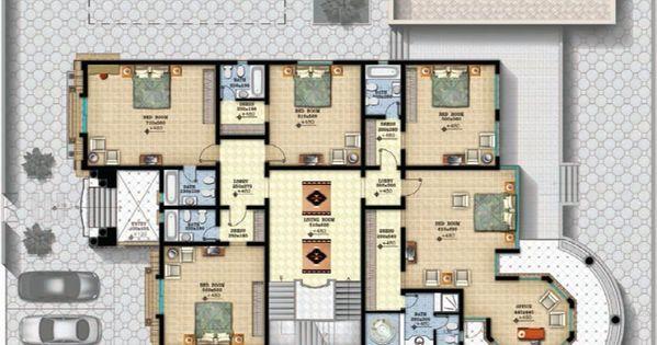 مخطط الفيلا رقم التصميم I2 من مبادرة بيتى 900 متر مربع 6 غرف نوم Modern House Plans Architecture House House Plans