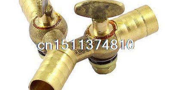 0 35 Gold Tone 3 Way Double Outlet Y Shape Gas Control Valve Control Valves Gold Shapes