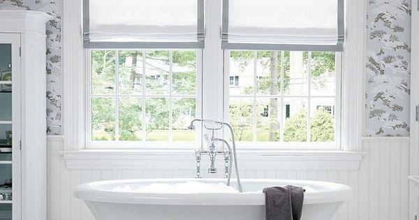 Vorhang Dusche Fenster : badezimmer gestalten freistehende badewanne ...