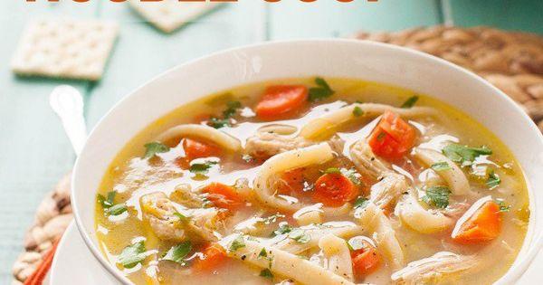 Clean Eating Crock Pot Chicken Noodle Soup Recipe