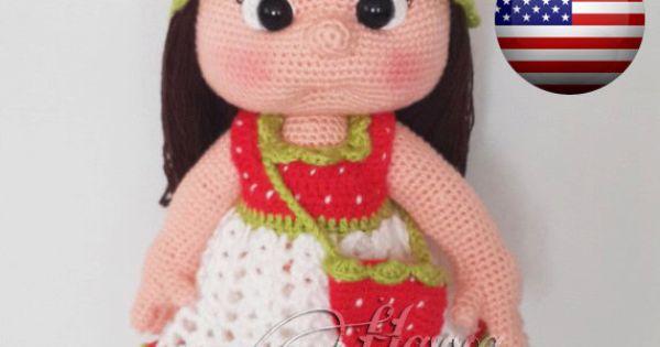 Amigurumi Strawberry Doll Pattern : PATTERN- Mia Doll With Strawberry Dress (crochet ...