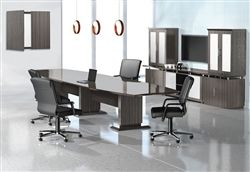 Mayline Stc12 Sterling Series 12 Boat Shaped Conference Table 3 Finish Options Available Conference Table Room Seating Furniture