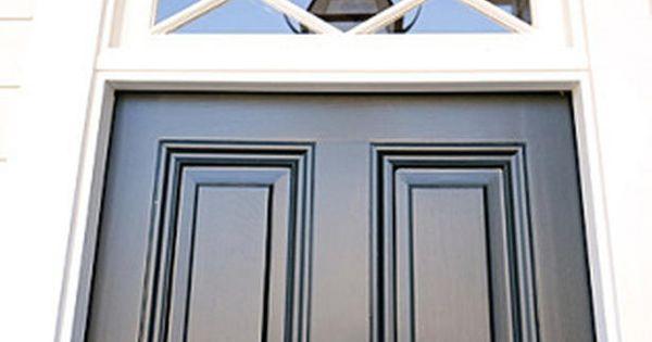 Love the dark door & transom window