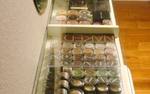 DIY Makeup Organization. Super inexpensive with help from IKEA and Walmart and