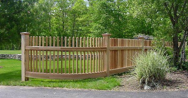 1 Picket Cedar Fence Home Pinterest