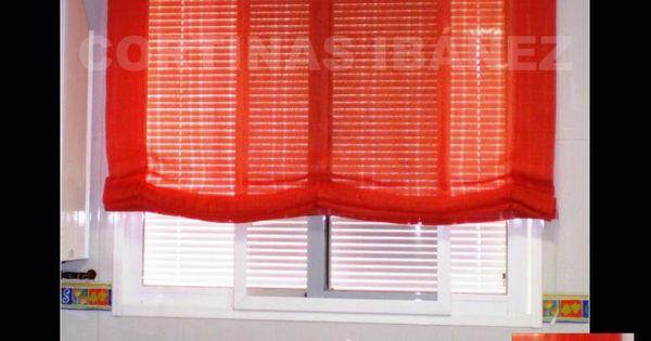 Estor paqueto visillo de lino color cortinas en for Pintura color lino