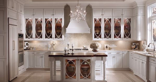 glass doors on the kitchen cabinets with design