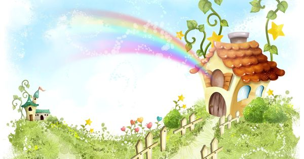 House Nature Cartoon Wallpaper Hd Wallpapers Di 2020 Lucu