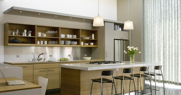 Kitchen Is Warm And Inviting Even Though It Modern Neutral toned Nice For The Home