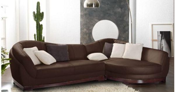 Sof rinconero en piel de b falo 5 plazas capri ii - Cojines para sofas de piel ...