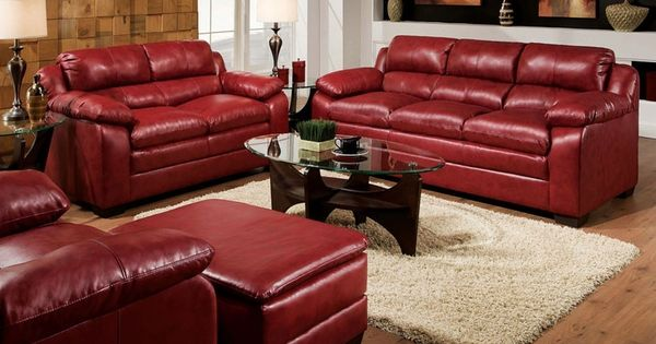 Acme Modern Burgundy Leather Tufted Sofa Couch Loveseat Living Room Sofa Sets Pinterest