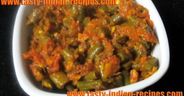 French Beans ki Sabji Recipe | indian dishes | Pinterest ...