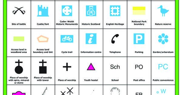 ordnance survey legend symbols google search map quest pinterest. Black Bedroom Furniture Sets. Home Design Ideas
