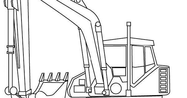 Excavator Coloring Page Color Me Fun For The Little Ones